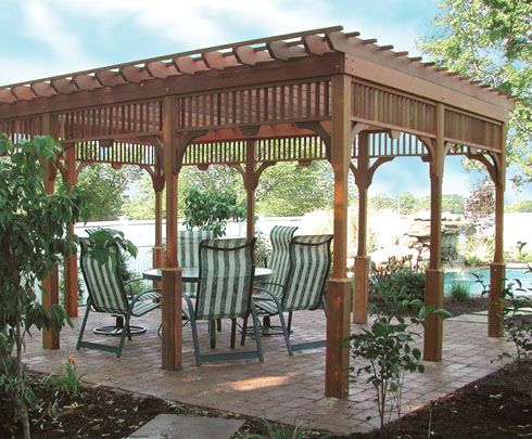 Pergola that I would LOVE in the back yard by my garden!