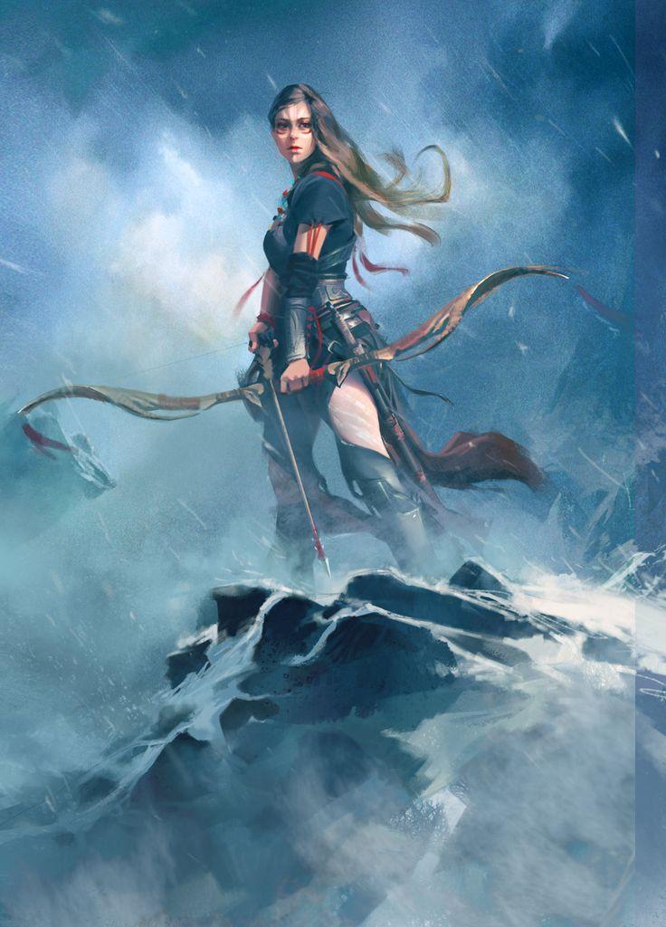 sekigan:  Fantasy Hunter Girl by wawa3761 on DeviantArt