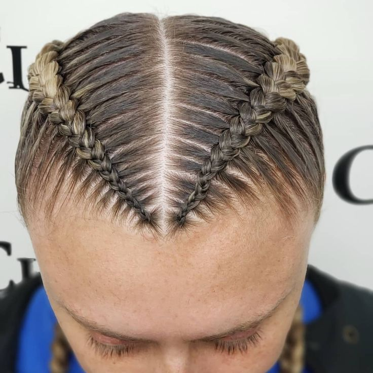 """After and before natural """"boxer stitch braids"""" on …"""