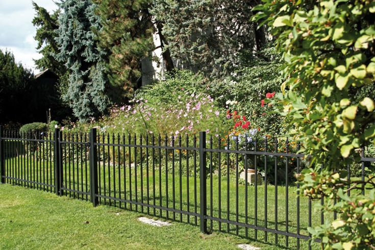 #Metallzaun aus #Aluminium #Garten