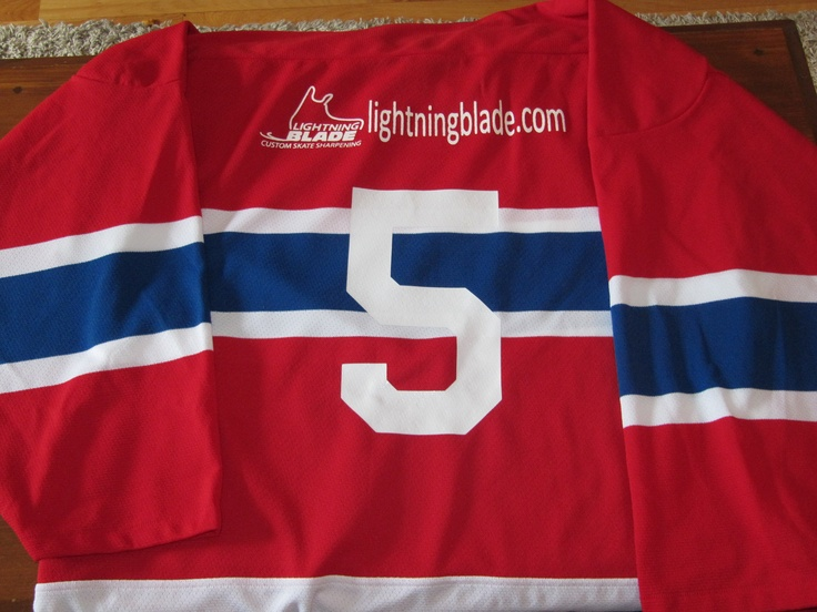Customized jerseys...names, numbers, logos, sponsors..we can be as cost efficient or as elaborate as you want to be. www.lightningblade.com