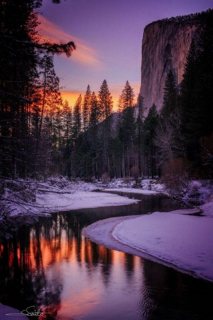 Sunset in El Capitan, Yosemite Valley, California  | nature | | sunrise |  | sunset | #nature  https://biopop.com/