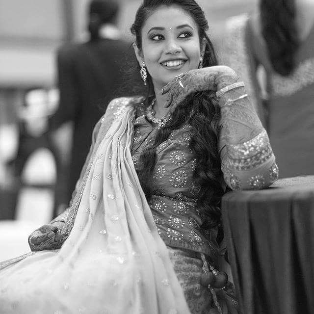 Being glamorous is about strength and confidence. It's black and white - dramatic.  #Candidphotography #Wedamor #WeddingPlanner #IndianWeddings #BlackandWhitePhotos #IndianBride #IndianBrideBlackandWhitePhotos  For more visit us at www.wedamor.com Photo Credits: Pankaj Rokade Photography
