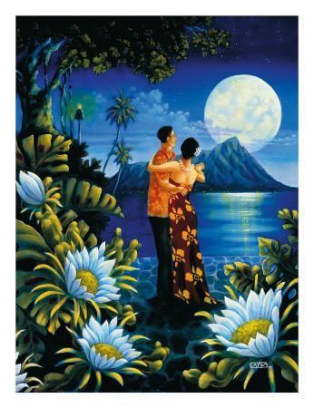 Luna di miele sull'isola Stampa giclée by Warren Rapozo at Art.com