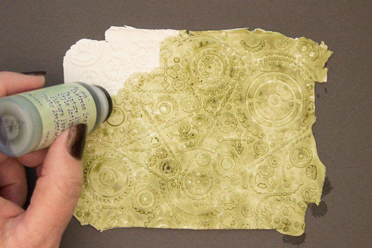 ¡Técnica en relieve de la arcilla de papel - usando carpetas de grabado en relieve! - La hada de los gráficos