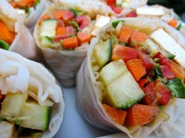 pad thai rice wraps