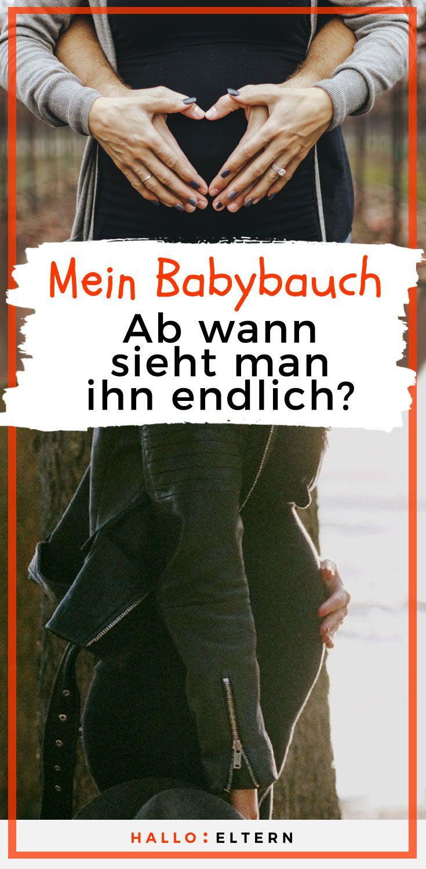 babybauch ab wann