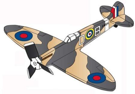 19 W3230 Airplane Whirligig Supermarine Spitfire