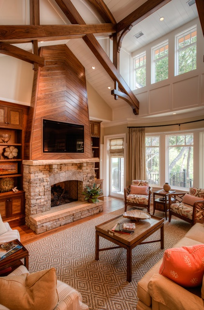 163 best rustic fireplace designs images on pinterest - Stone and wood fireplace ...