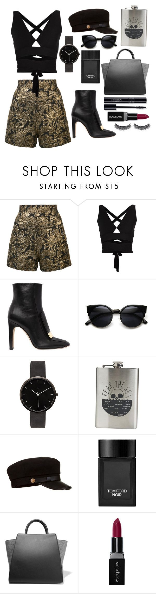 """""""#00083"""" by nglmfrryln ❤ liked on Polyvore featuring Haider Ackermann, Proenza Schouler, Sergio Rossi, I Love Ugly, Roark, Tom Ford, ZAC Zac Posen, Smashbox and Battington"""