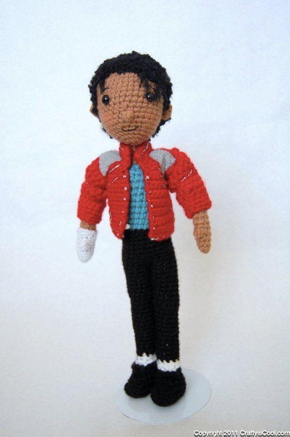 Michael Jackson Amigurumi Crochet doll Pattern MJ Tribute