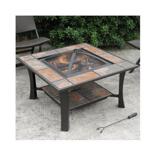 Unique Outdoor Garden Fire Pit Coffee Table Wood Burning