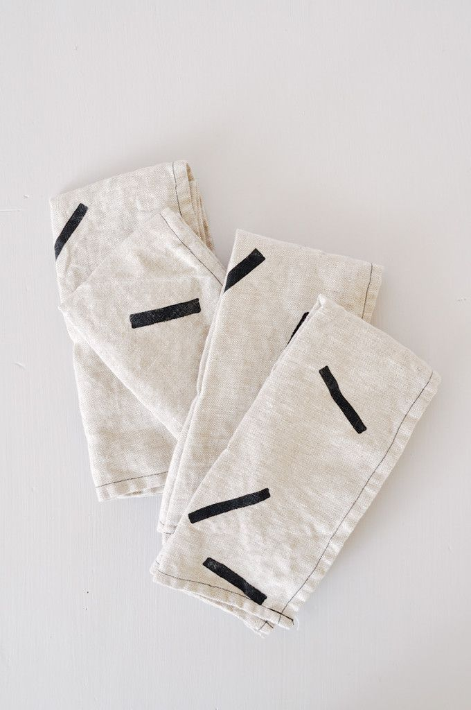 Linen Napkins by Koromiko. Handmade in America.