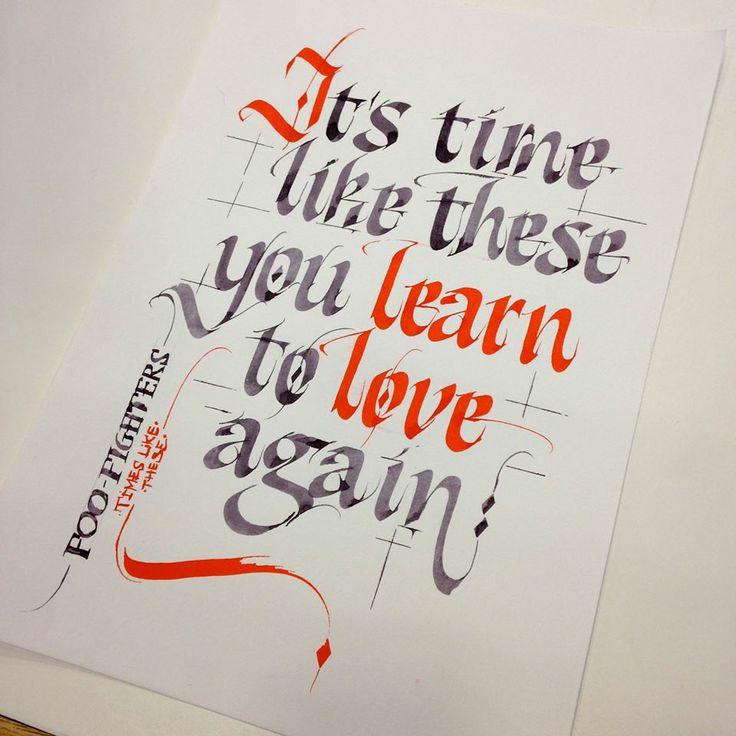 Best calligrafie en schoon schrift images on pinterest