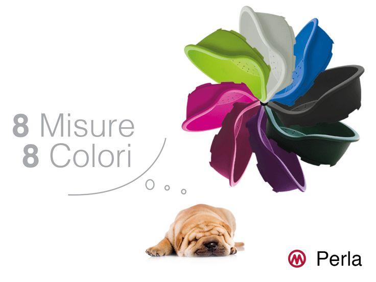 """Il meglio della comodità canina """"Made in Italy"""". Serie PERLA, la cuccia disponibile in 8 colori e 8 dimensioni."""