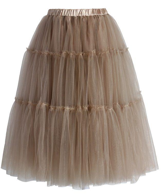 Chicwish TUTU sukně Amore, karamelová