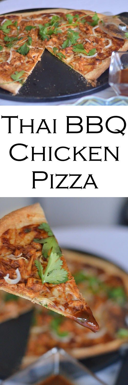 Thai Barbeque Chicken Pizza Recipe #dinnerrecipe #chicken #chickenrecipe #rotisseriechicken #weeknightdinner #bbqchicken #pizza #pizzarecipe #foodblog #LMrecipes #foodblogger #hoisinsauce #sriracha #chickendinner