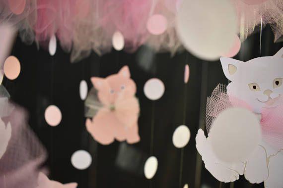 Cat mobile Cat dream catcher Kittens nursery decor Cat decor