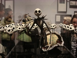 My illegal shot of Jack the Pumpkin King from the MOMA's Tim Burton exhibit.  Too brilliant not to risk being thrown out of the museum.