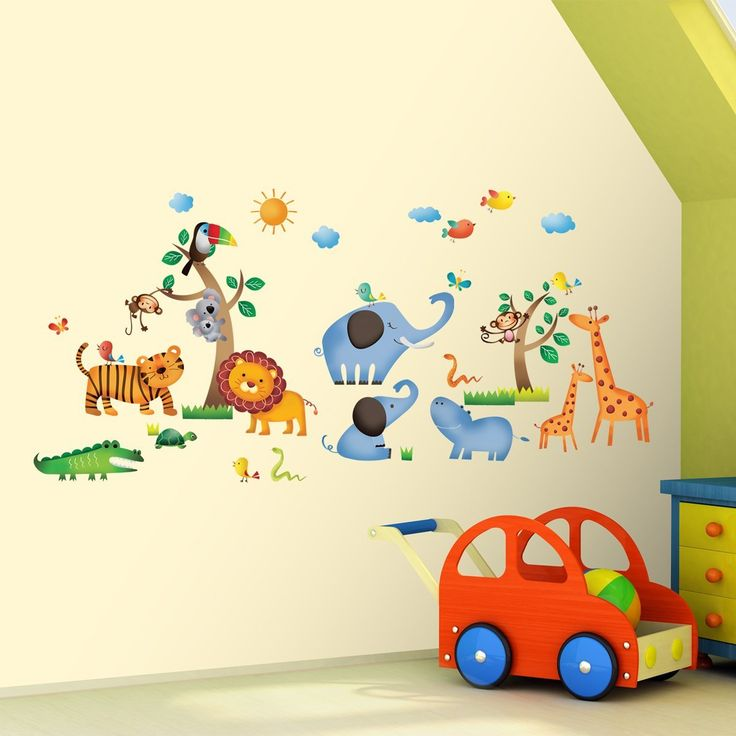 Awesome Decowall DW Jungle adesivi da parete wall stickers adesivi da parete
