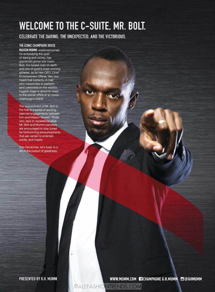 Usain Bolt para GQ USA Diciembre 2016