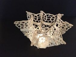 Lace Shadows- remnant fabric and wax
