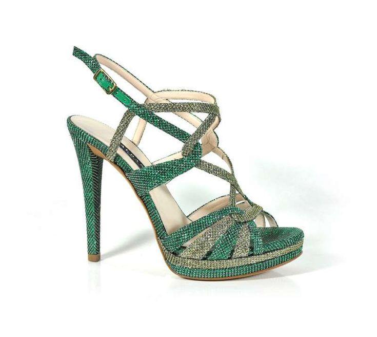 Scarpe da cerimonia Albano collezione Primavera Estate 2016 - Sandali verdi Albano