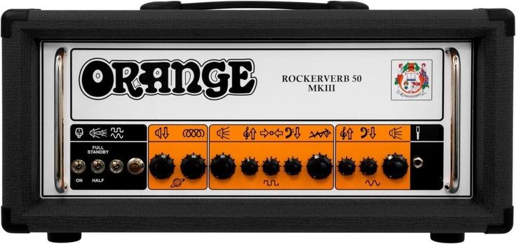 Orange Amplifiers Rockerverb 50 MKIII 50W Tube Guitar Amp Head Black