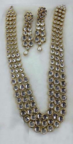 Designer-Gold-Plated-Bollywood-Style-Jewelry-Indian-Kundan-Bridal-Necklace-Set