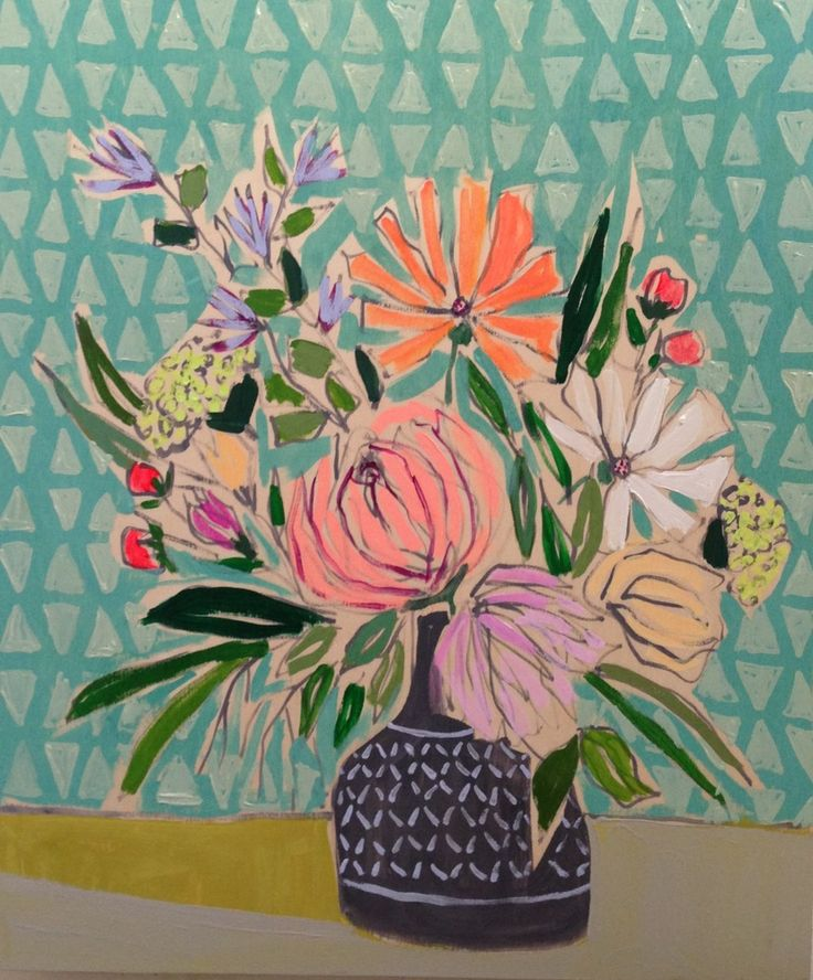 Lulie Wallace Art — 20x24 Flowers for Susie