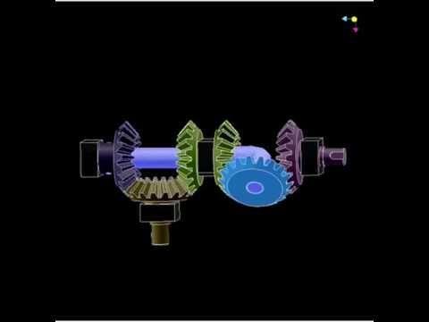Редуктор на одинаковых конических шестернях 2