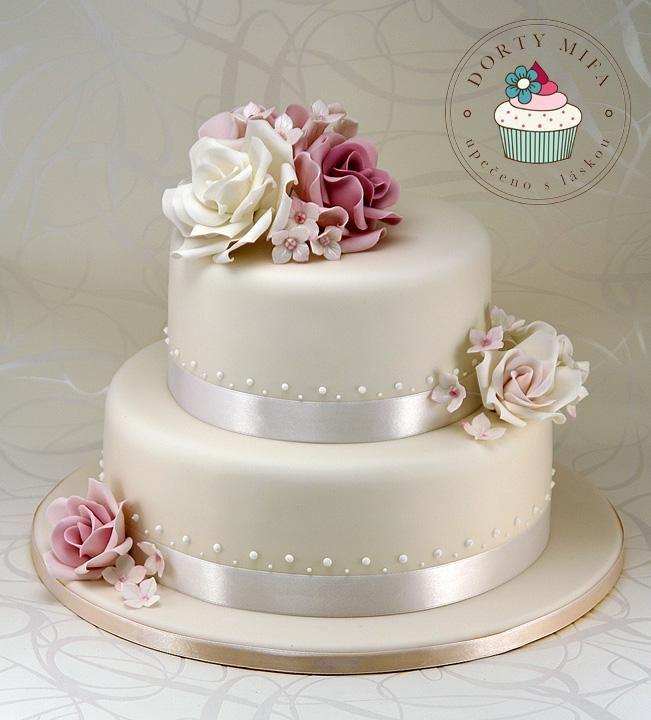 svatební dort růžový - Hledat Googlem