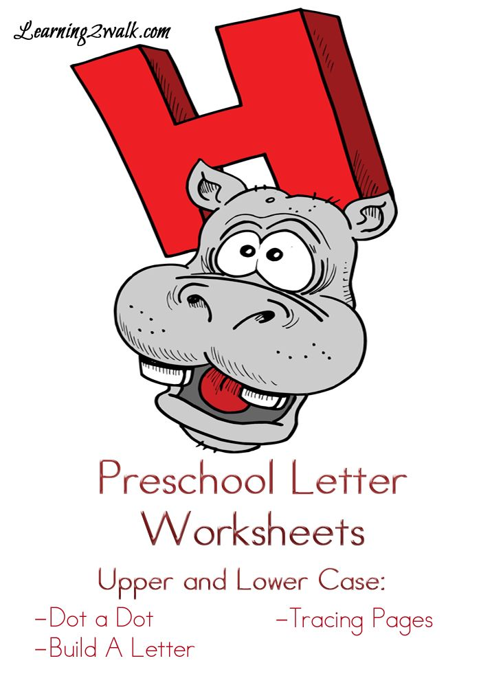 Preschool Letter Worksheets: H with do a dot pages, tracing and more