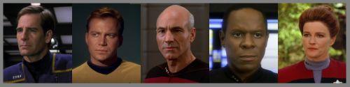 julianminciz: To explore strange new worlds; To seek out new...  Archer J. Kirk J. T. Picard J. Sisko B. Janeway K. T'Pol Spock Riker W. T. Nerys K. Chakotay Phlox McCoy L. Crusher B. Bashir J. The Doctor Tucker C. III Scott M. La Forge G. O'Brien M. Torres B. Sato H. Uhura N. Worf - Son of Mogh Odo Tuvok Reed M. Sulu H. Troi D. Dax E. Kim H. Mayweather T. Chekov P. Data Dax J. Paris T. julianminciz:  To explore strange new worlds; To seek out new life and new civilizations; To boldly go…