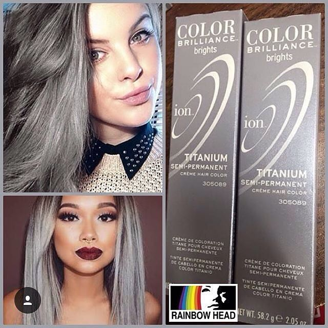 #mulpix ION COLOR BRILLIANCE TITANIUM available at @rainbowhead_ph!  P550 each only!  One tube is 2.05 oz, good for chin length hair.  NO NEED TO MIX WITH DEVELOPER!  Ion Color Brilliance Semi-Permanent Brights Hair Color are high-fashion hair colors designed to give vivid, boldly intense results. - Brilliantly intense hair color - No ammonia or peroxide - Formulated in Italy - Ready to use  THIS WILL NOT WORK ON UNBLEACHED HAIR. You need to have light blonde hair for the color to work…