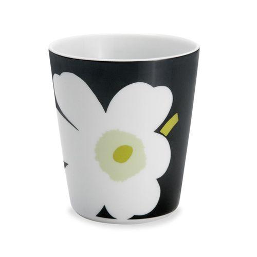 Marimekko Black/Green Unikko Latte Mug $15.00