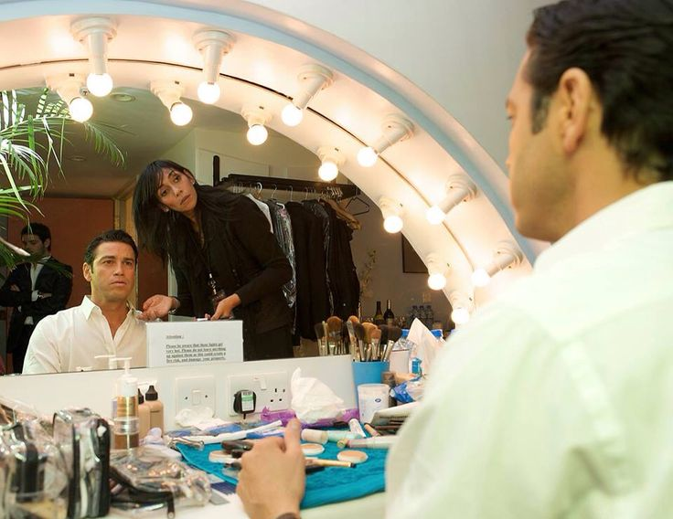 Mario Frangoulis back stage at the Royal Albert Hall in London preparing for his performance...