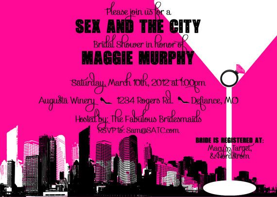 items similar to sex and the city themed bridal shower bachelorette party invitation customizable and printable on etsy