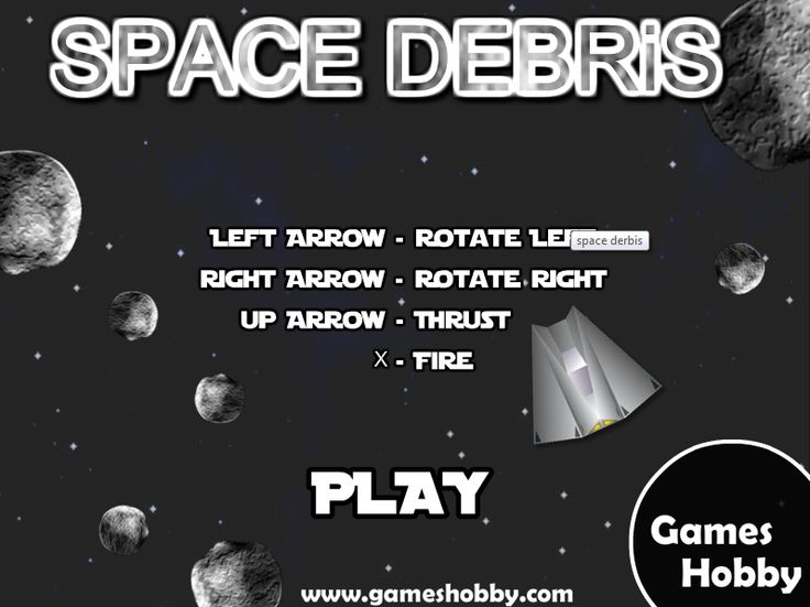 #ONLINE_GAMES @Boni Utas Hobby   #Play_Space_Debris Online Game  Space debris is highly associated to action game having a collection of orbital structure object.  http://www.gameshobby.com/free-online-games/Space-Debris