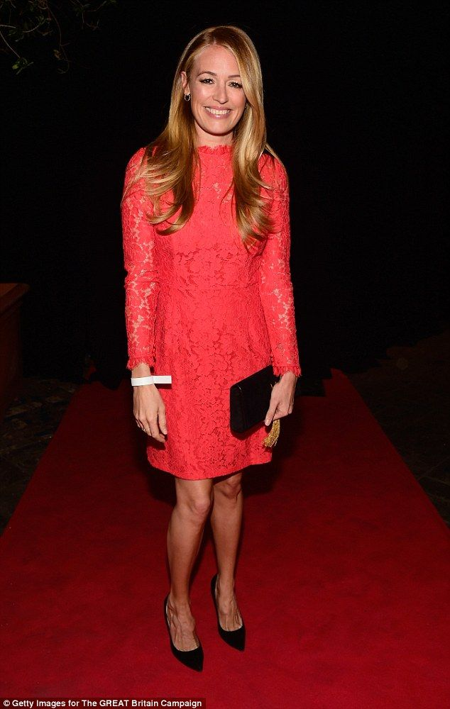 Lady in red: New mom Cat Deeley wowed in red on Friday night as she attended the Film is G...