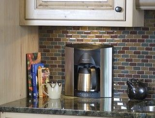 For appliances, if able to recess them into the wall and create a beautiful contract with the backsplash.