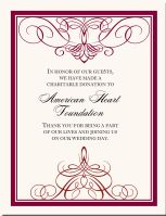 Wedding Donation Cards Favor Donations As Favors Customized