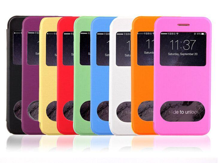 Чехол для iphone 6 большой ( 5,5 дюйма ), 5,5 дюйма для iphone 6 большой чехол кожа задняя часть чехол чистый цвет вид окно перевёрнутый телефон футляры и сумочки чехол