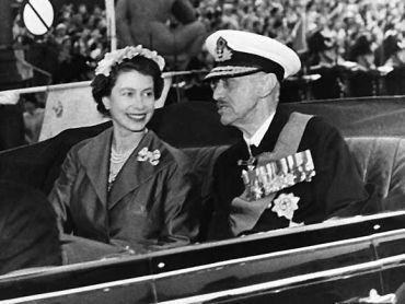 Haakon VII Storbritannia 1955