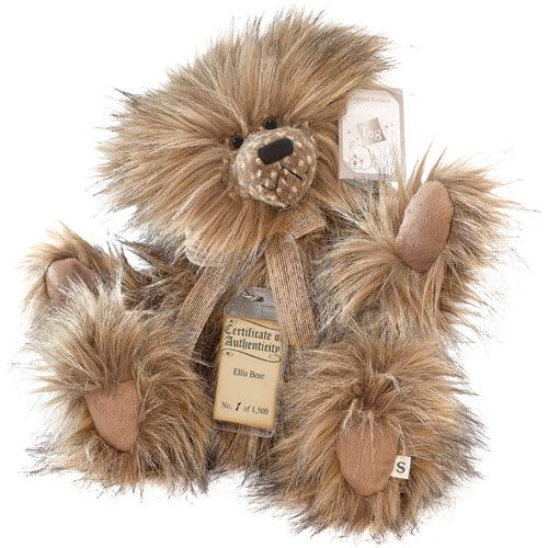 SILVER TAG COLLECTIBLE BEAR - ELLIS Limited to just 1,500 pieces worldwide, Ellis is made from a combination of sandy brown, mocha and black tipped long pile material.