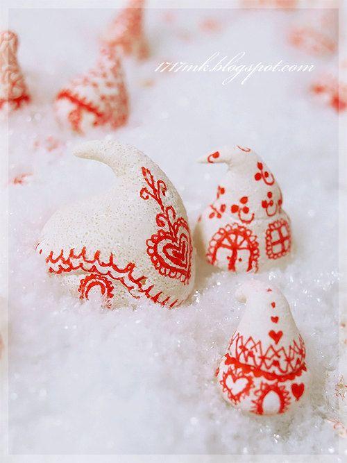 Village Christmas waldorf house - - wintry village inspired by Scandinavian folk art...