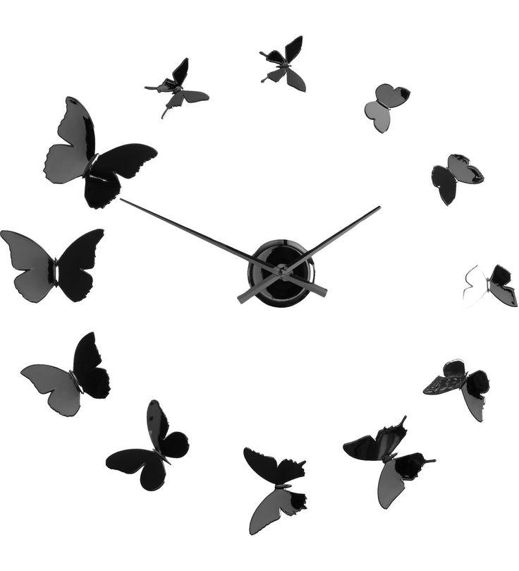 Kiinnität perhoset tarroilaa seinää haluamaasi muotoon!   Halkaisija: n. 45cm Väri: kromi