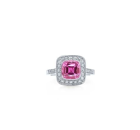 My beautiful Tiffany Pink Sapphire Engagement ring!