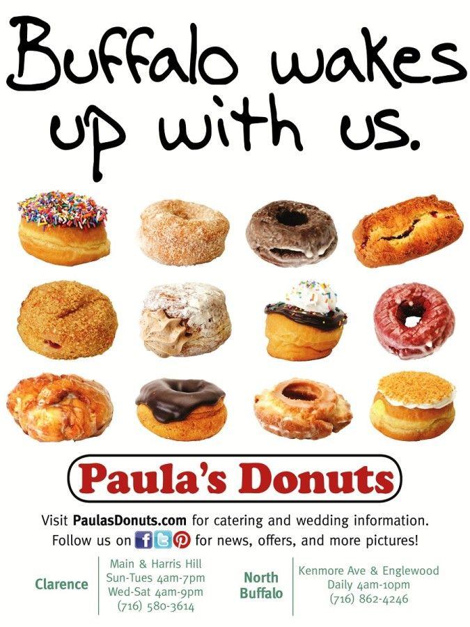 Paula's Donuts -  380 Kenmore Ave, Buffalo, NY  +1 716-862-4246  Sun-Sat4am-10pm