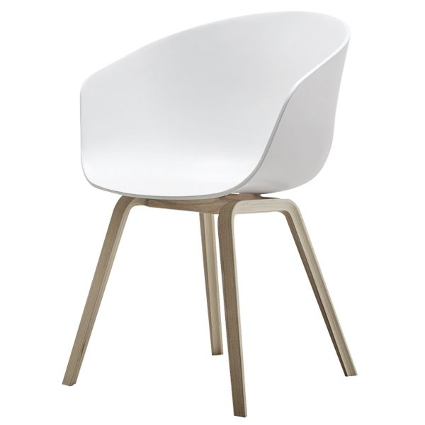 About A Chair by HAY (designed by Hee Welling in 2010) - concept was to develop a chair with conspicuous simplicity. A chair which works just as well around the dining table as around a conference table, in a canteen or at the office.